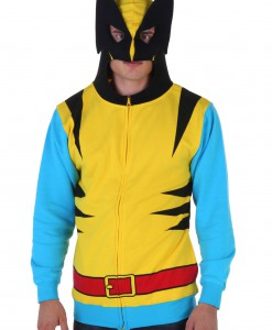 Marvel Wolverine Mens Yellow Suit Up Hoodie