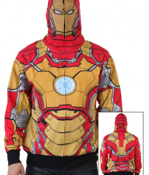 Mark 42-M Marvel Iron Man 3 Costume Hoodie