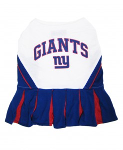 New York Giants Dog Cheerleader Outfit