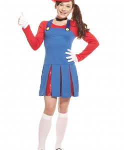 Teen Super Maria Costume