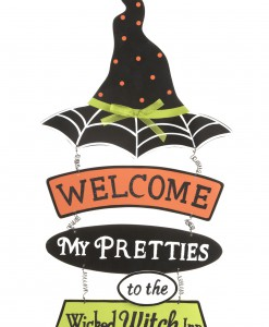 Witch Hat Welcome Sign