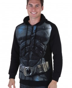 Dark Knight Mens Black Batman Hoodie