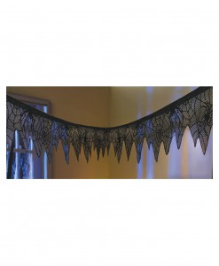 Black Lace Mesh Garland