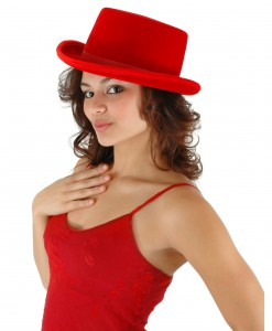 Red Velour Top Hat