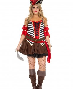 Plus Size Women's Private Pirate Costume