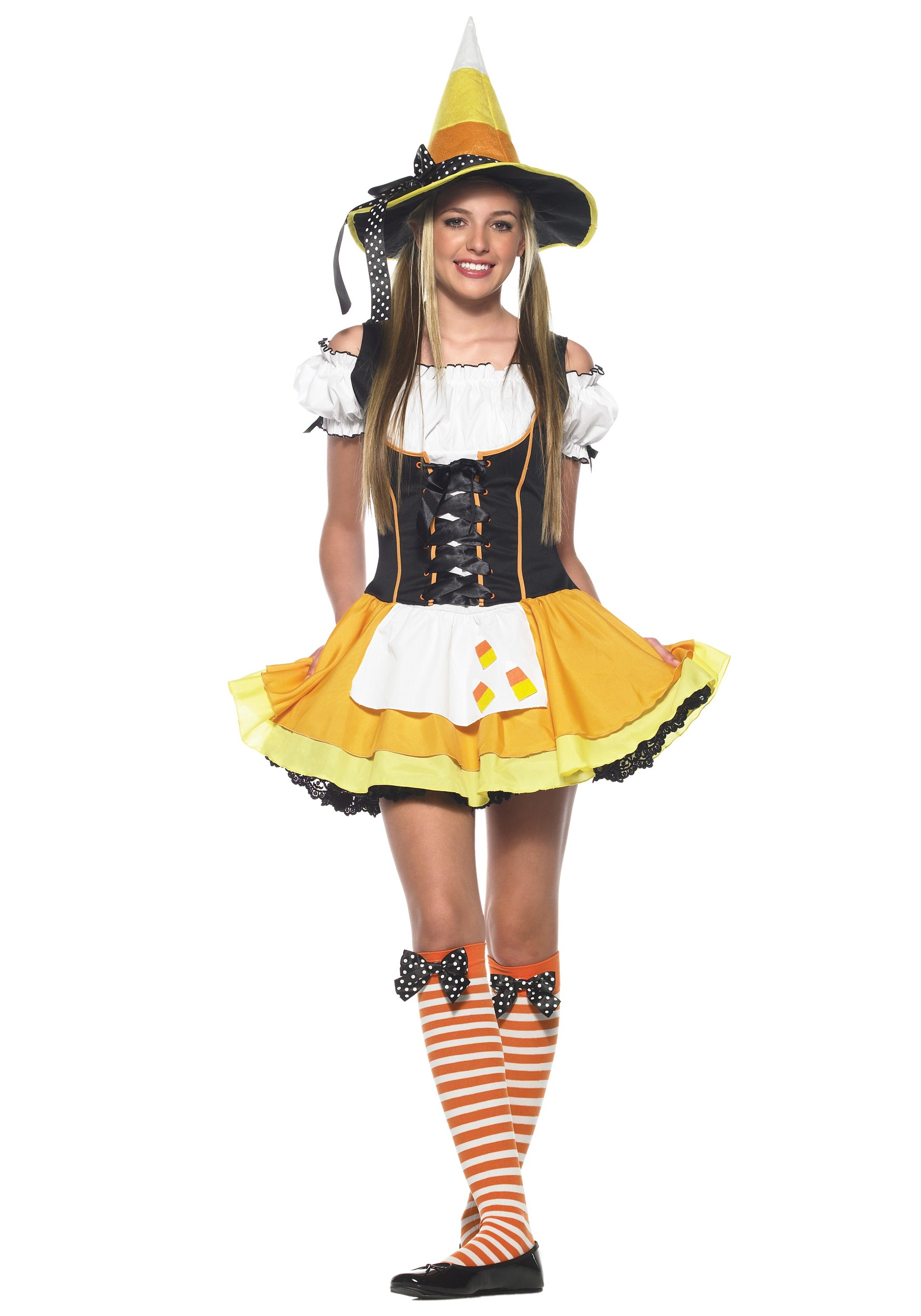 Teen Candy Corn Witch Costume