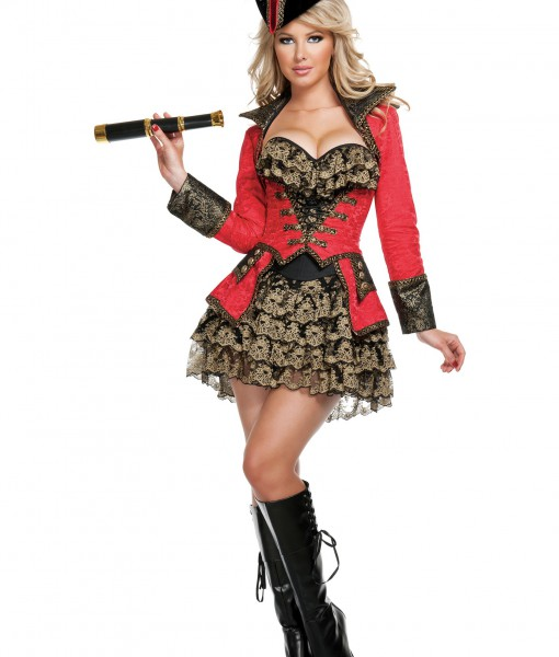 Elite Red Pirate Costume