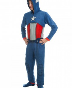 Captain America Mens Blue Union Suit