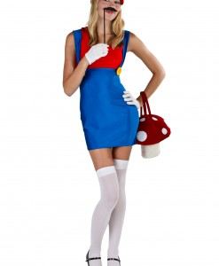 Plus Size Sexy Red Plumber Costume