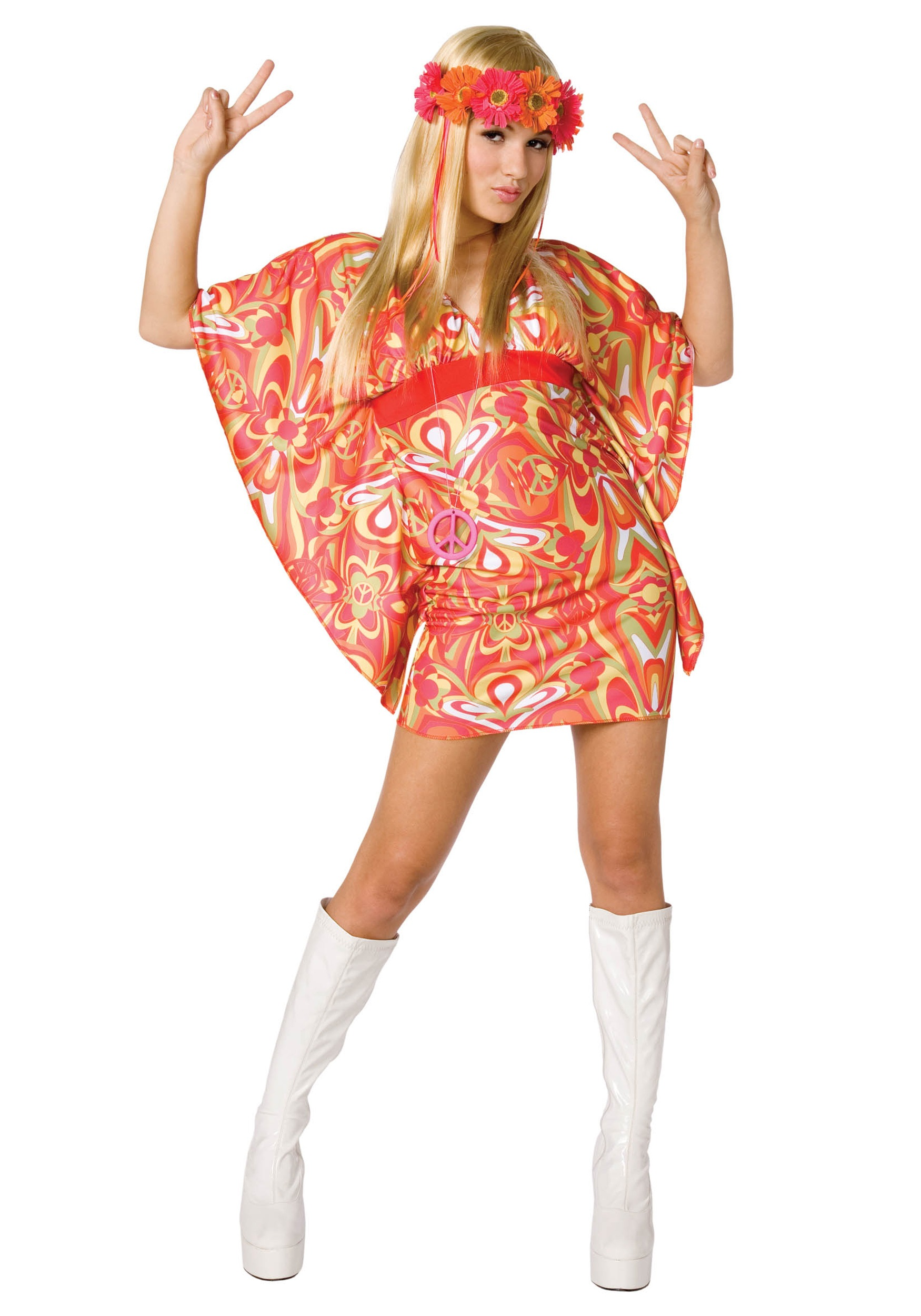 womens 60s hippie costume - halloween costume ideas 2018