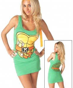 TMNT Michelangelo Orange Tank Dress