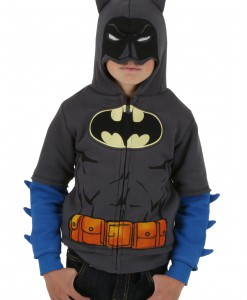 Toddler Grey Batman Costume Hoodie