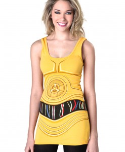 Womens Star Wars C3PO Tunic Tank