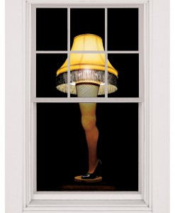 Leg Lamp Window Cling