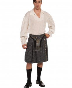 Gray Kilt and Shirt