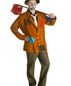 Plus Size Hobo Clown Costume