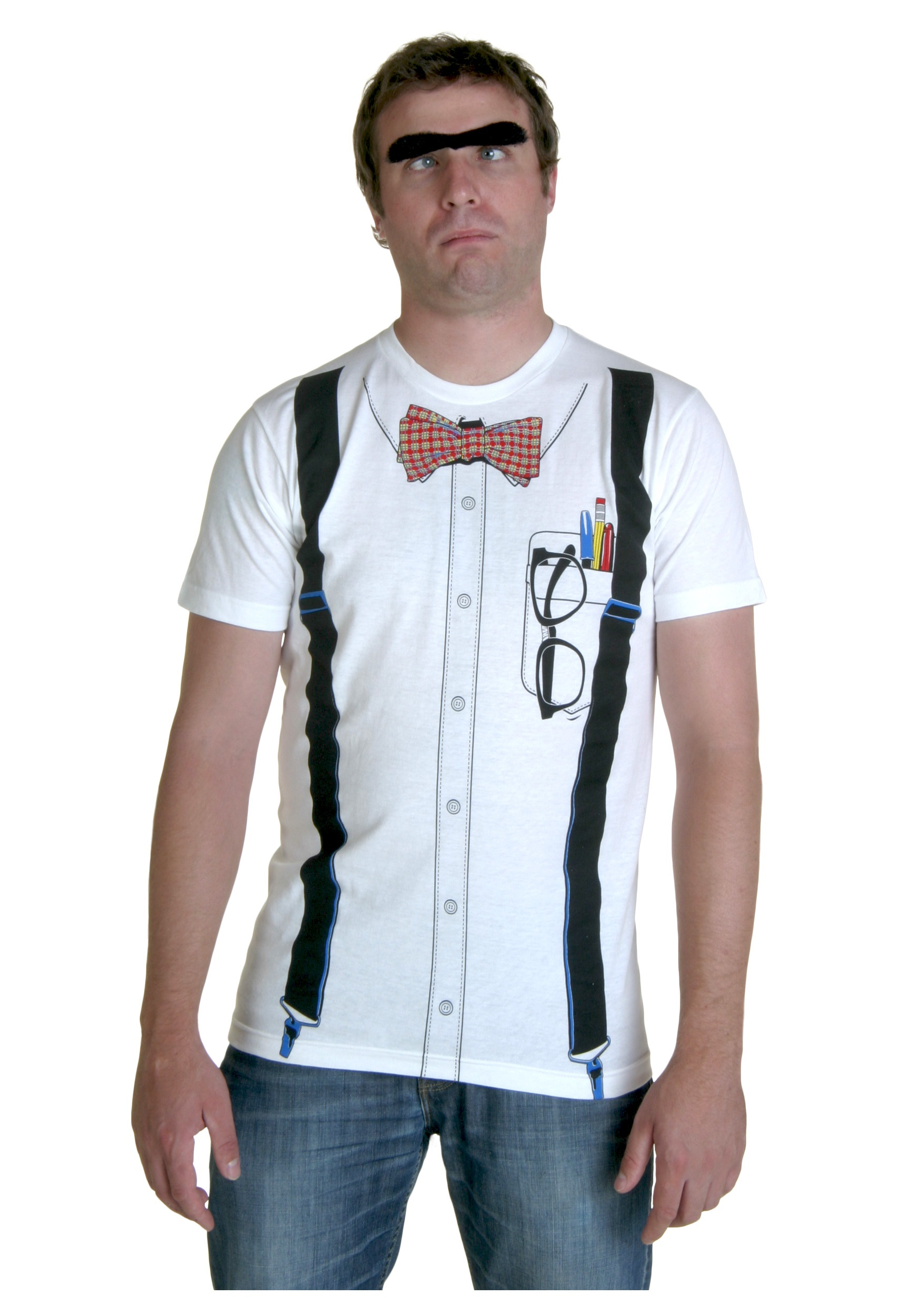 classic white nerd t shirt halloween costume ideas 2016 - Classic Mens Halloween Costumes