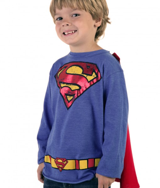 Kids Krypton Hero Royal Blue Superman T-Shirt