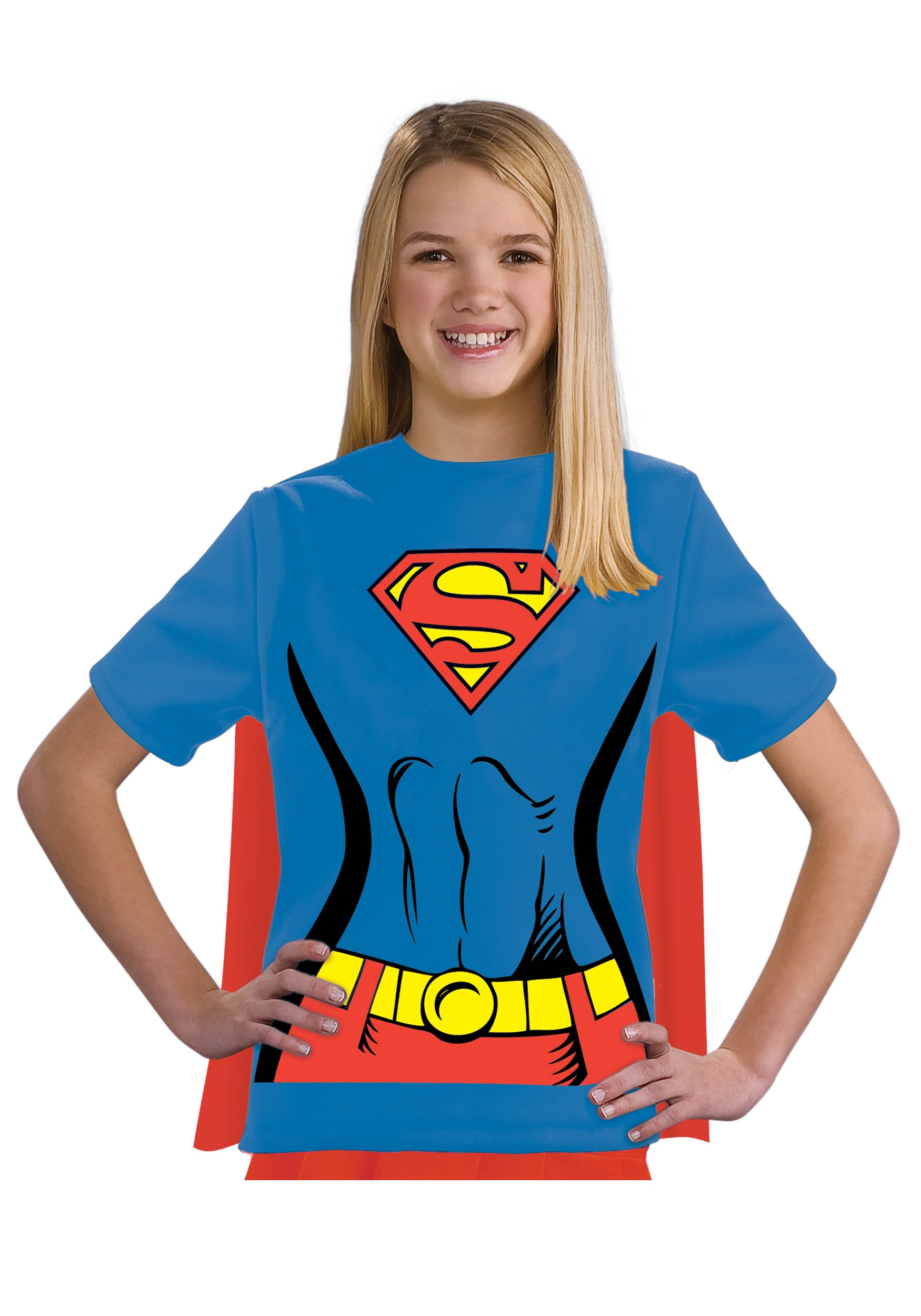Child Supergirl T Shirt Costume