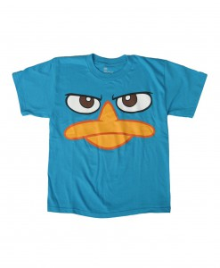 Kids Phineas and Ferb Perry Face Costume T-Shirt
