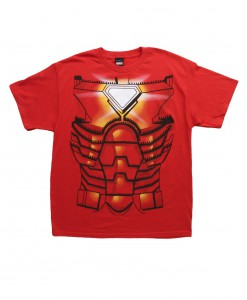 Mens Iron Man Costume Jumbo T-Shirt
