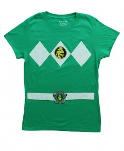 Womens Green Power Ranger Costume T-Shirt