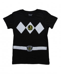 Womens Black Power Rangers Costume T-Shirt