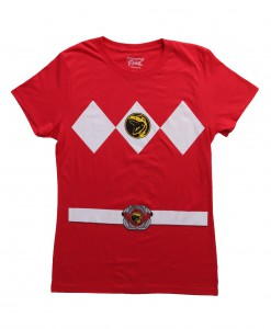 Womens Red Power Ranger Costume T-Shirt