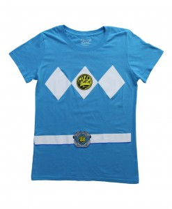 Womens Blue Power Rangers Costume T-Shirt