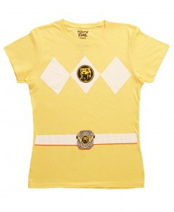 Womens Yellow Power Ranger Costume T-Shirt