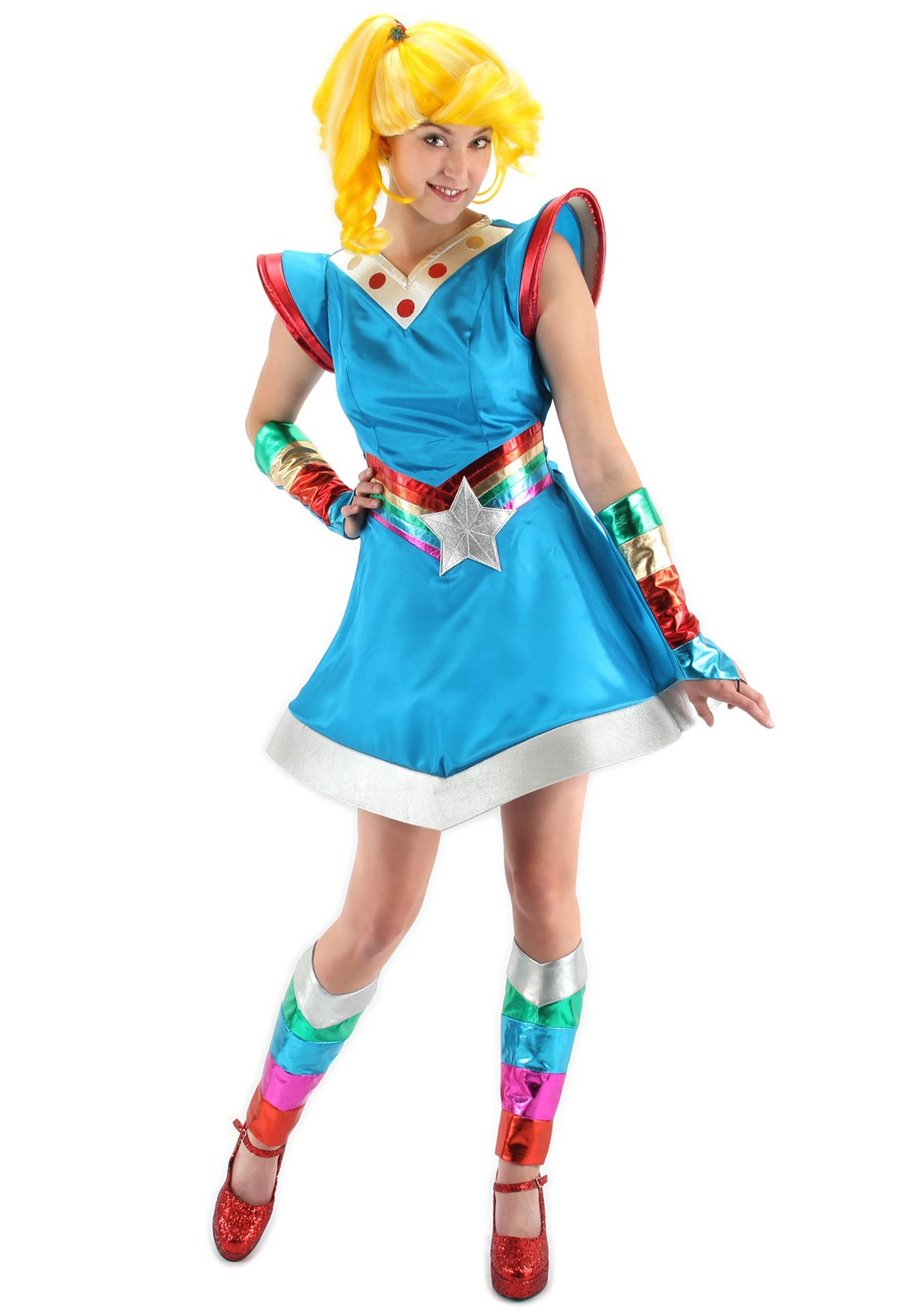 adult Rainbow costume bright