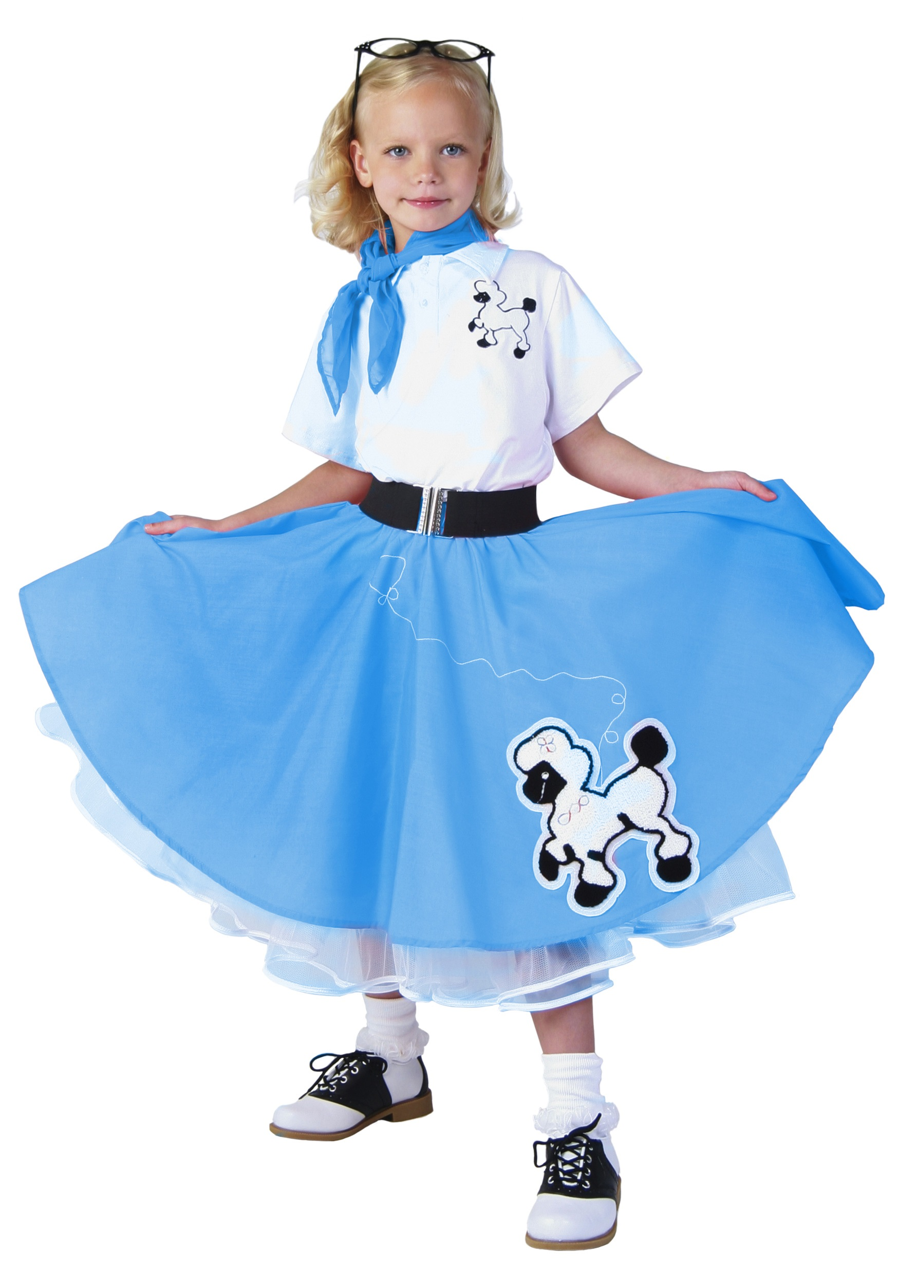sc 1 st  Halloween Costumes & Kids Deluxe Blue Poodle Skirt Costume - Halloween Costume Ideas 2016