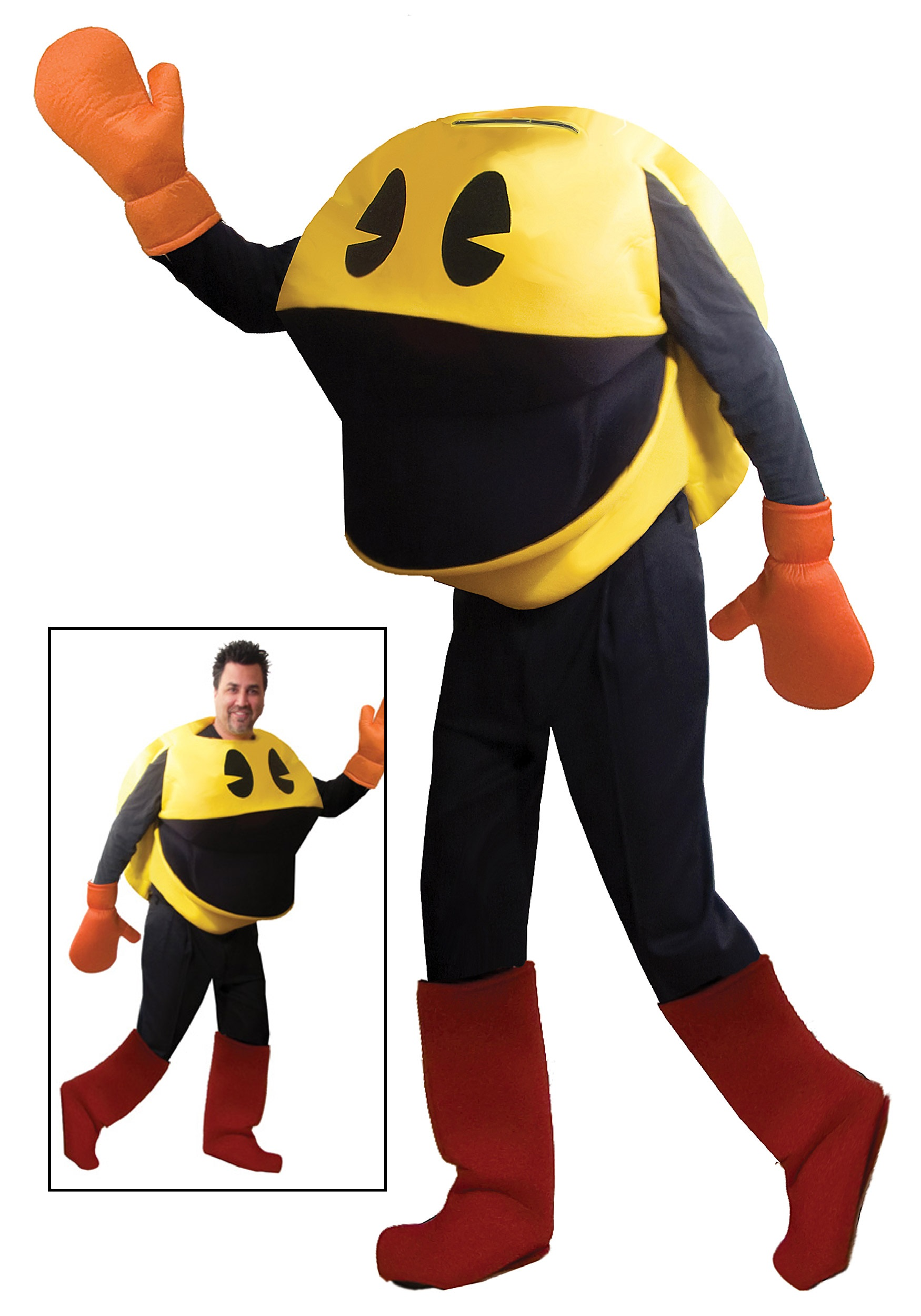 Halloween Video Game Costumes.Deluxe Adult Pac Man Costume