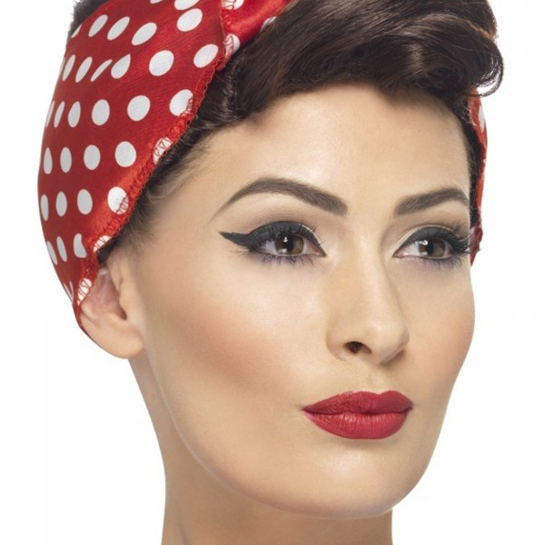 Halloween Costume Ideas/50u0027s Costumes/Pin Up Girl Costumes  sc 1 st  Halloween Costumes & 40s Rosie Wig - Halloween Costume Ideas 2018
