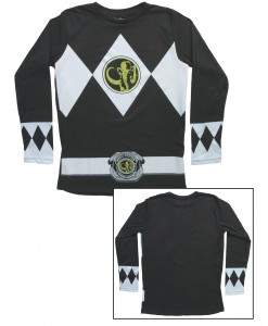 Black Power Rangers Long Sleeve Costume Shirt