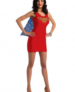Adult Wonder Woman Tank Dress w/ Rhinestones