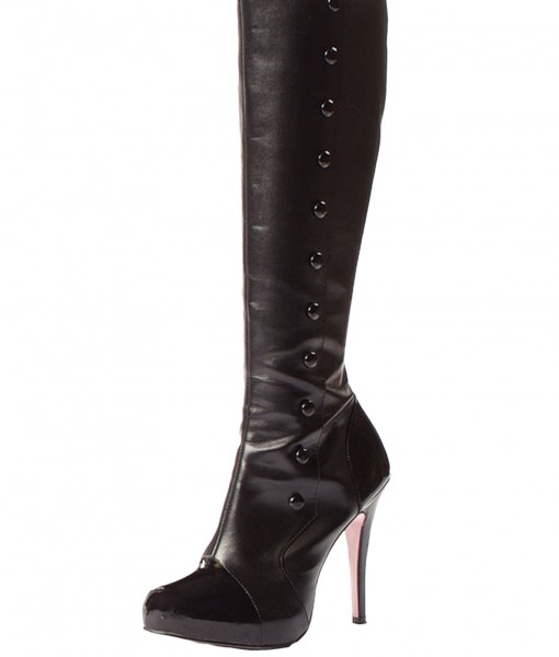 Knee High Boots w/Buttons