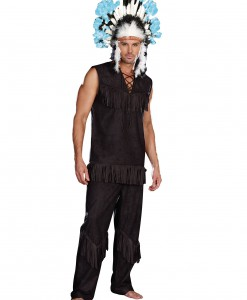 Men's Plus Size Indian Chief Costume