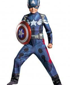 Boys Captain America 2 Classic Movie Costume