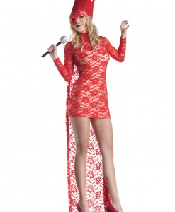 Red Lace Popstar Costume