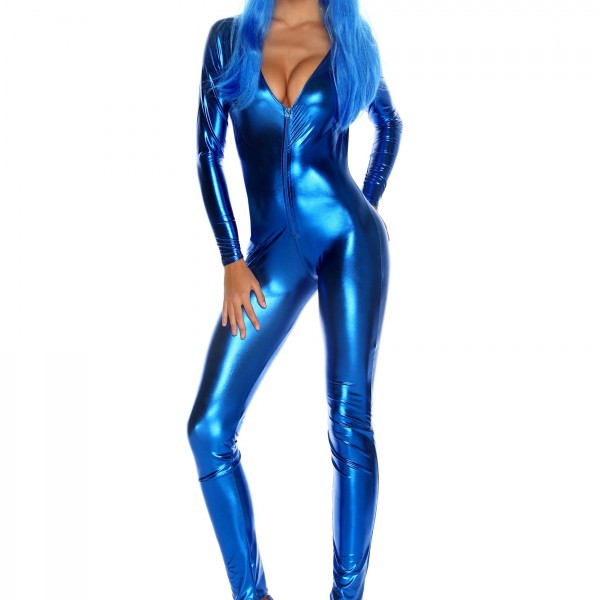Popular Royal Blue No Strings Attached Jumpsuit LC60426 Women Fashion Rompers