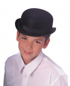 Child Black Bowler Hat