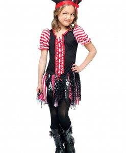 Girls Stowaway Sweetie Pirate Costume