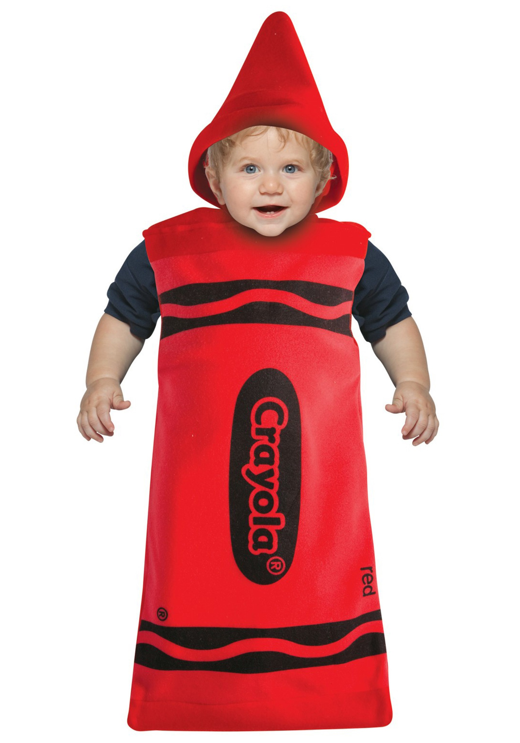 infant red crayon bunting - halloween costume ideas 2018