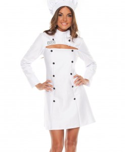 Womens Plus Size Chef Costume