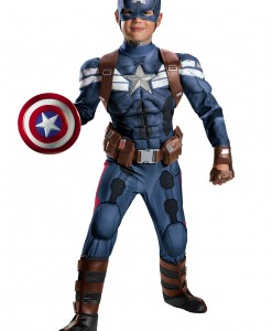 Boys Stealth Captain America Movie 2 Prestige Costume