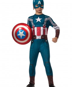 Boys Retro Captain America Costume
