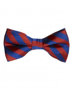 Red/Blue Striped Bow Tie