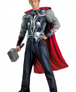 Plus Size Avengers Thor Muscle Costume