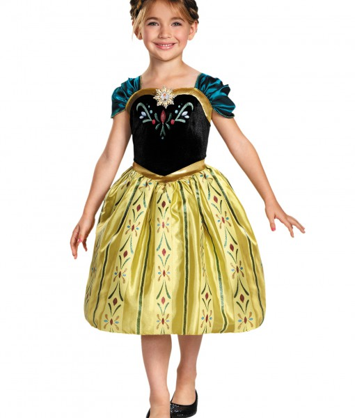 Girls Frozen Classic Anna Coronation Dress